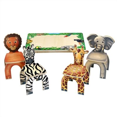 Anatex Safari Table & Animal Kid's Novelty Chairs