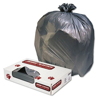 Jaguar Plastics® Low-Density Can Liner 56-Gallon, 1.1 Mil in Gray