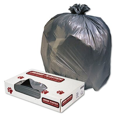 Jaguar Plastics® Low-Density Can Liner 45-Gallon, 1.3 Mil in Gray