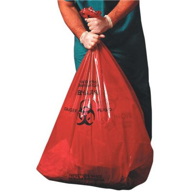 Jaguar Plastics® Health Care Low-Density Super Grade Liner 15-Gallon in Red