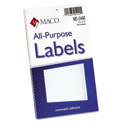 Maco Tag & Label Multipurpose Self-Adhesive Removable Labels, 160/Pack
