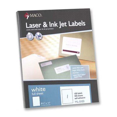 Maco Tag & Label All-Purpose Labels, 100/Box