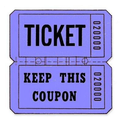 Maco Tag & Label Ticket Roll, Double Coupon, 2000/RL, Blue