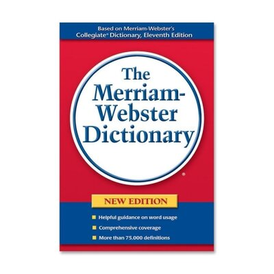 "Merriam-Webster Hardback Paperback Dictionary, 75000 Definitions, 720 Pages, 8-1/2""x5-3/4"""