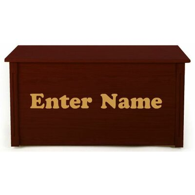 Dream Toy Box Personalized Wooden Toy Box with Picture Letters