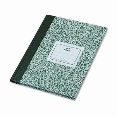 Rediform Office Products Lab Notebook, Wide Rule, 7-7/8 x 10-1/8, White, 96 Sheets/Pad