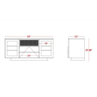 "Furnitech Modern 64"" TV Stand"