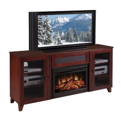 "Furnitech Shaker Style 70"" TV Stand with Electric Fireplace"