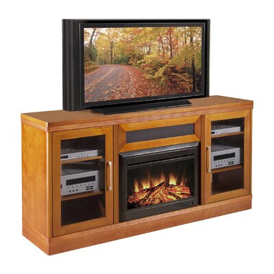 "Furnitech Transitional 70"" TV Stand with Electric Fireplace"