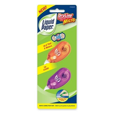 Paper Mate Correction Tape Dispenser, 5mmx6m, Assorted Colors