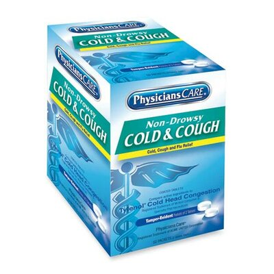 PhysiciansCare® Physicians Care Cold & Cough Medication, Purple (50 Packs per Box)