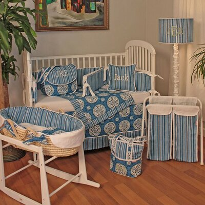 Hoohobbers Medallion Blue Crib Bedding Collection
