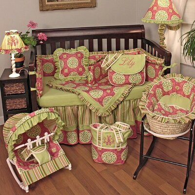 Hoohobbers Medallion Pink Crib Bedding Collection