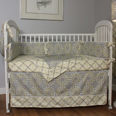 Hoohobbers Burst Sterling 4 Piece Crib Bedding Set