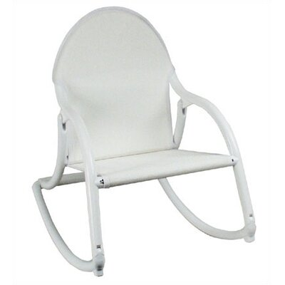Personalized Rocking Chair in White Mesh
