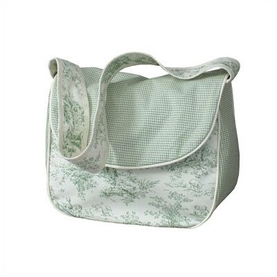 Hoohobbers Etoile Green Personalized Messenger Diaper Bag