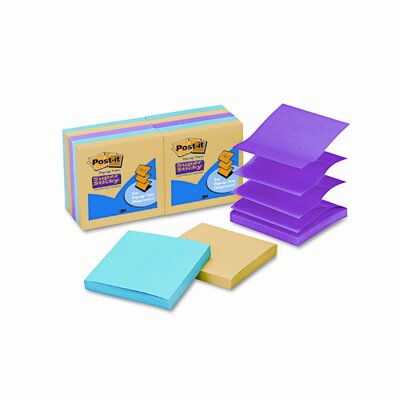 Post-it® Pop-Up Notes Super Sticky Pop-Up Notes Pad, 3 x 3 (Set of 10)