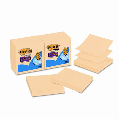 Post-it® Pop-Up Super Sticky Refill Note Pad (Set of 12)