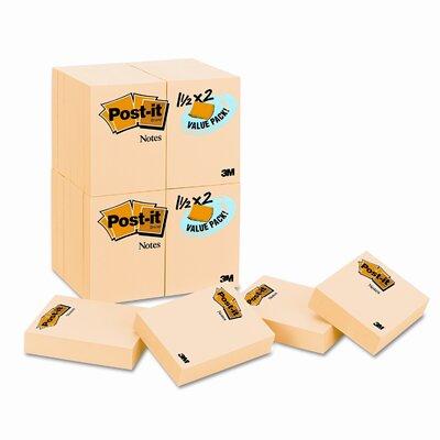 Post-it® Original Note Pad,  24 90-Sheet Pads/Pack