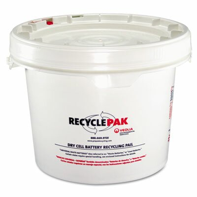 Recyclepak Prepaid Recycling Container Kit for Batteries