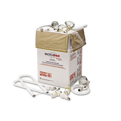 Recyclepak Prepaid Recycling Container Kit for Mixed Lamps, 16w x 16d x 25h Box, White