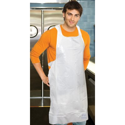 "Royal Toner 28"" Polyethylene Apron in White"