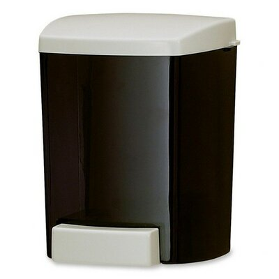 San Jamar Soap Dispenser, Classic, Holds 30 oz, Black/Gray