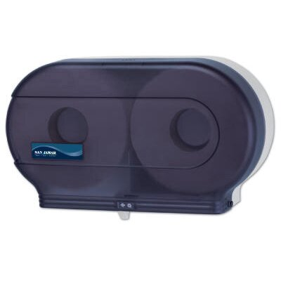 San Jamar Twin Jumbo Toilet Tissue Dispenser in Black Pearl