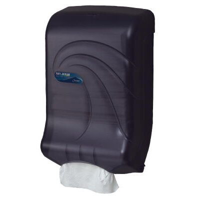 Oceans Ultrafold Towel Dispenser in Transparent Black