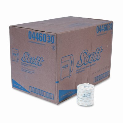 Scott Embossed Premium 2-Ply Toilet Paper - 605 Sheets per Roll / 80 Rolls