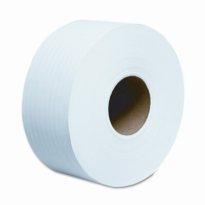"Scott SCOTT JRT Jr. Jumbo Roll Bathroom Tissue, 9"" dia, 1000 ft, 12 Rolls per Carton"