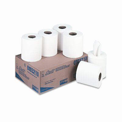 Scott SCOTT Roll Control Center Pull Towels, 8 x 12, White