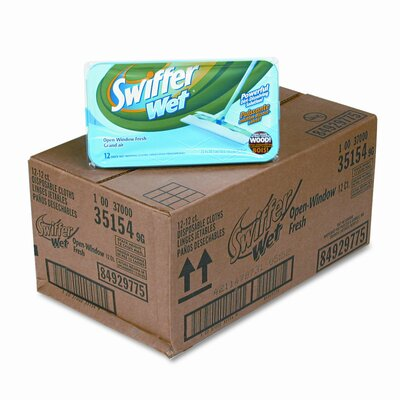 Swiffer Wet Refill System, 12/Box, 12/Carton