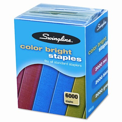 Swingline Color Bright Staples, 6000/Pack
