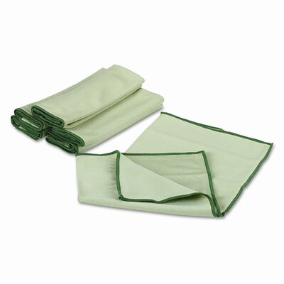 Wypall WYPALL Cloths w/Microban, Microfiber 15-3/4 x 15-3/4, GN, 6/pack