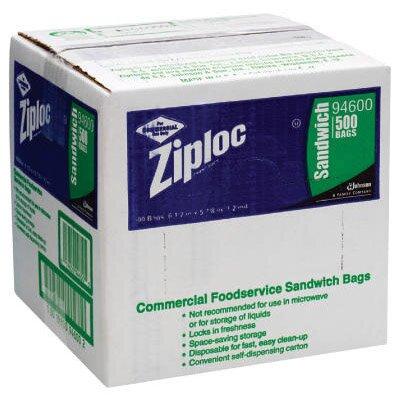 Ziploc® Resealable Sandwich Bags in Clear