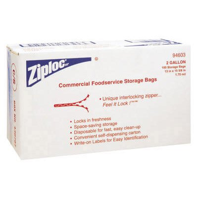 "Ziploc® 13"" x 15.6"" Double Zipper Bags in Clear"