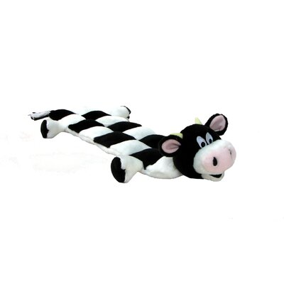 Kyjen Squeaker Mat Long Body Cow Dog Toy