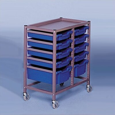 "Fleetwood Double Column Mobile 33.5"" Storage Cart"