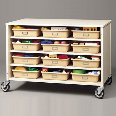 Fleetwood Double Sided  Storage Cart with Optional Trays