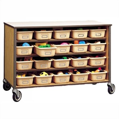 "Fleetwood 34"" H Storage Cart with Optional Trays"
