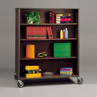 "Fleetwood 60"" H Double Sided Bookcase with 6 Adjustable Shelves"