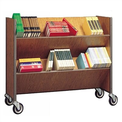 Fleetwood Double Sided Book Truck with 4 Shelves