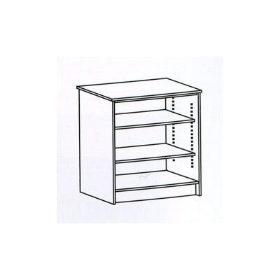 Fleetwood Library Modular Front Desk System - Open Storage Unit