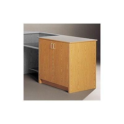 Fleetwood Library Modular Front Desk System - Storage Cabinet with Two Shelves