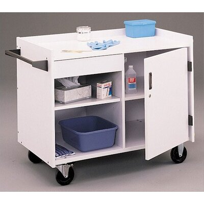 "Fleetwood 36"" First Aid Rolling Mobile Medical Cabinet"