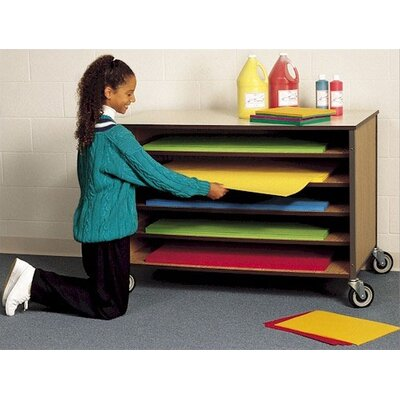 Fleetwood Open Paper Storage Shelf Cart