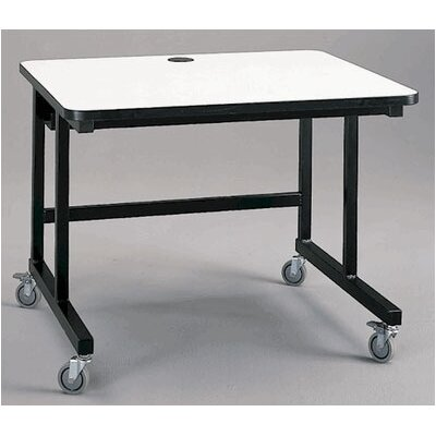 Fleetwood Mobile Computer Table with J-Trough Wire Management