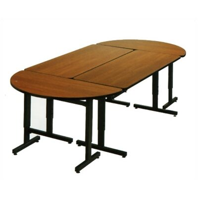 Fleetwood Rectangular Study / Work Table with Glides or Optional Wheels and Adjustable Height