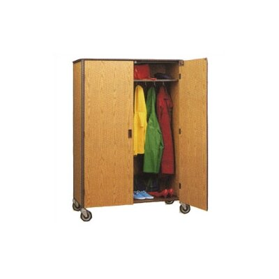 "Fleetwood 60"" H Student Wardrobe Cabinet with Locking Doors"
